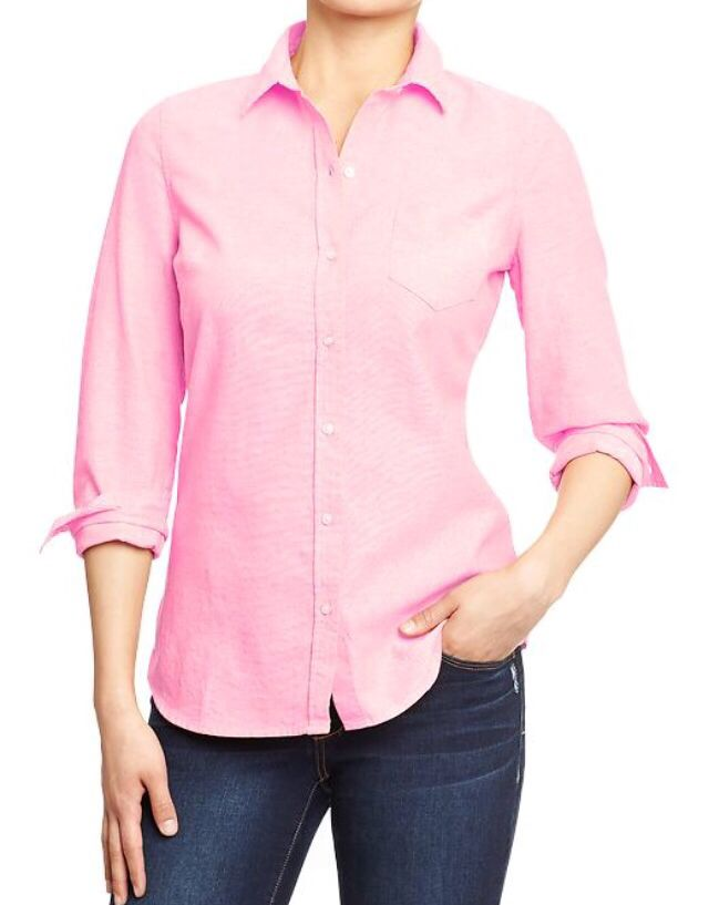 Pink women's Oxford shirt- Old Navy