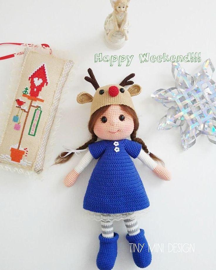 Merhabalar, Mavi elbisemiz de olsun dedik Mutlu haftasonları . . #amigurumi #amigurumidoll #crochet #crochettoys #handmadetoys #tinyminidesign #gurumigram #crochetdoll #elemegi #elyapimi #örgüoyuncak #elyapimioyuncak #tığişioyuncak #tığişi