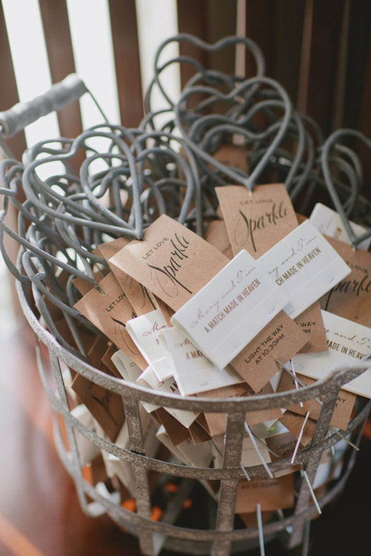 wedding favors ideas do it yourself%0A Heartshaped sparklers and other beautiful wedding favor ideas your guests  will love