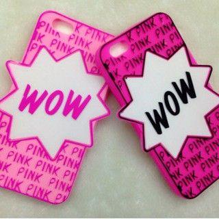 Funda de silicona Wow Pink 3D