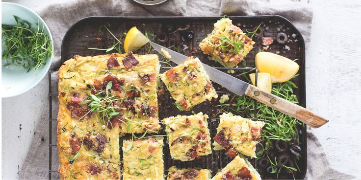 You'll never know this zucchini slice is dairy-free! It's the perfect breakfast or snack on the go.