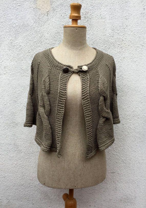 Vintage Irish Knitted Poncho  The Irish Dance by domklary on Etsy