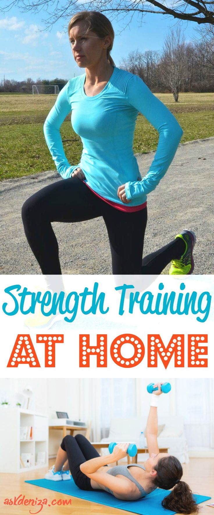 How do I train at home with weights? You don't need fancy equipment or pricey gym memberships to get healthy and fit. Use these training tips to build muscle at home. Muscle mass burns more calories and will help you lose fat and stay lean year around, while working out in the comfort of your living room! @askdeniza