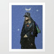 Star Dust Rain Art Print