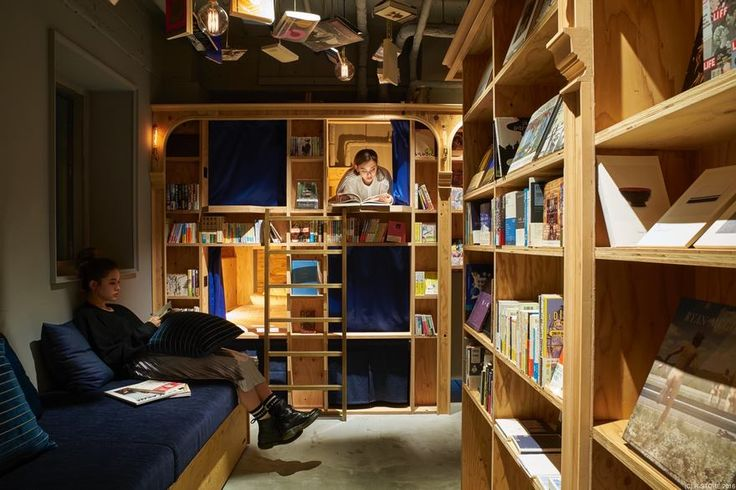 "Book & Bed is a self-described ""accommodation bookshop"" with beds built into bookshelves. When the first Tokyo location opened last year, bibliophiles were obviously overjoyed because, for the first time, it was socially acceptable to wander into a bookshop, pick up a book, and then doze off"