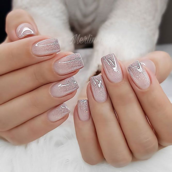 Gentle And Feminine Ombre Designs ❤️ Short acrylic nails almond, short acr
