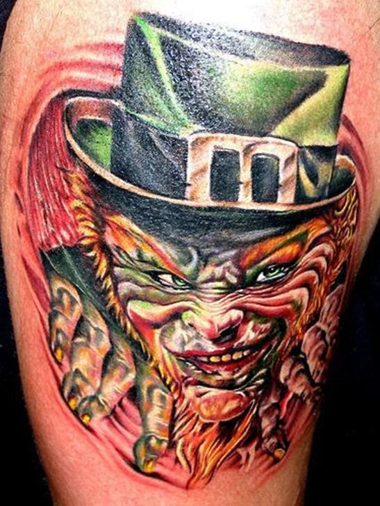 23 Good Luck Irish Leprechaun Tattoos