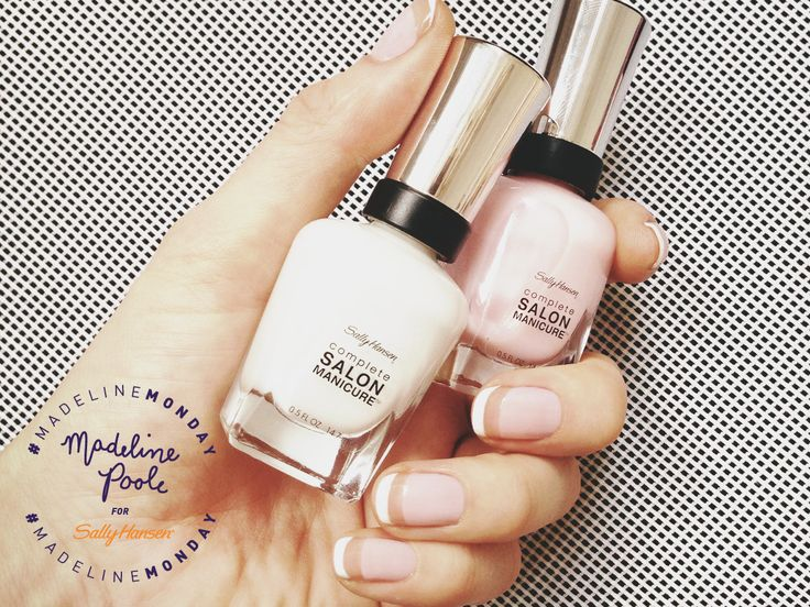 Madeline Poole Floating French Manicure | Sally Hansen Canada