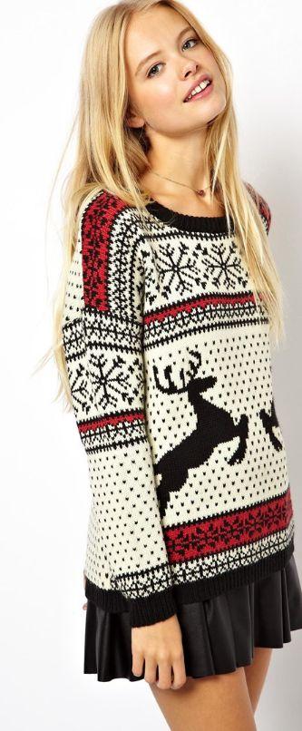 Cozy reindeer sweater