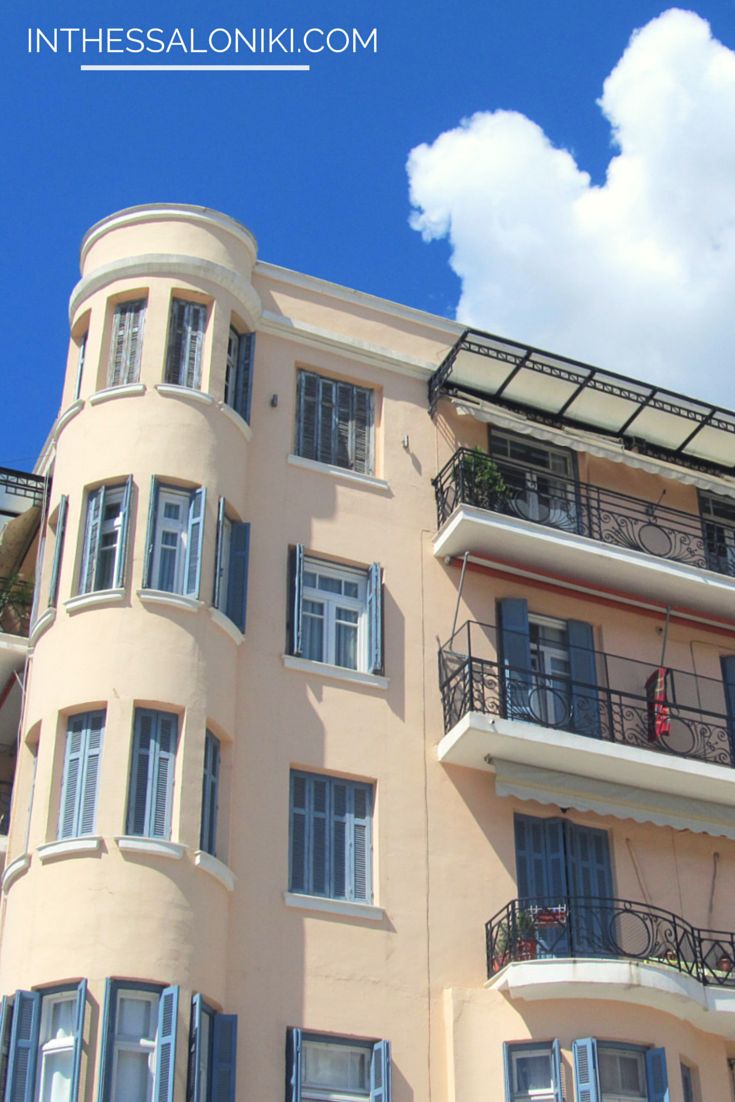 ● Random building in Thessaloniki, Greece. ● #architecture #street #europe #travel