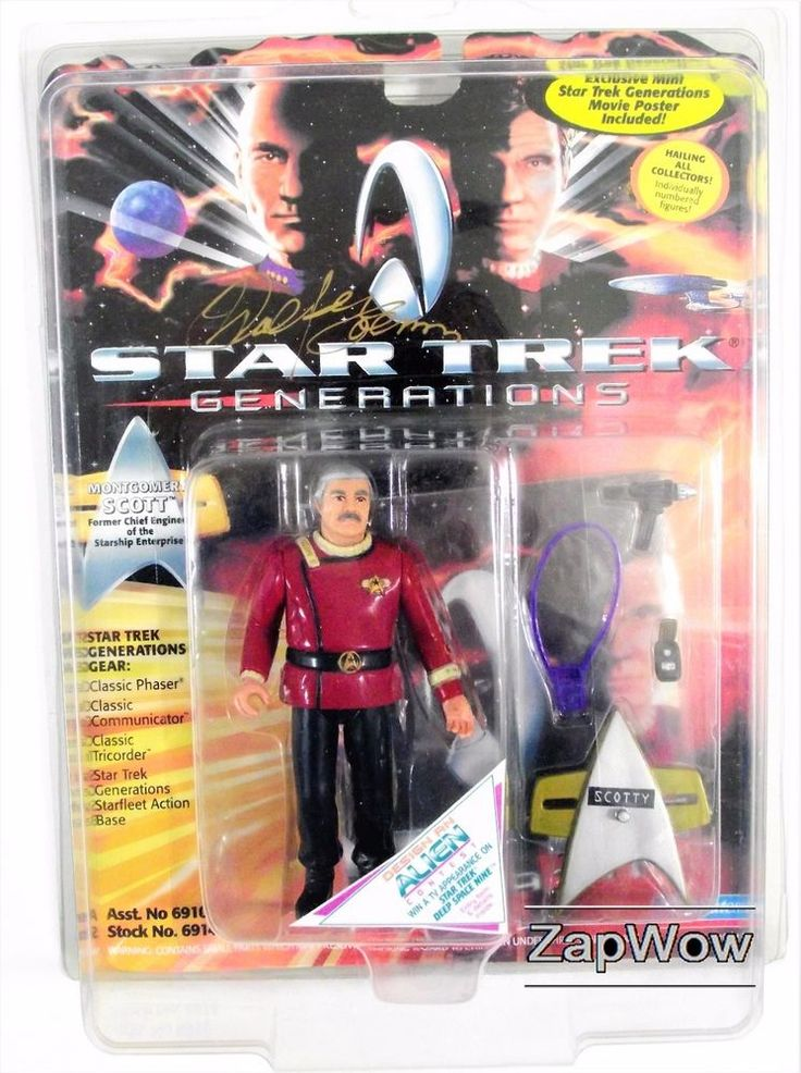 STAR TREK GENERATIONS Admiral Scott action figure by Playmates. For sale £24.99