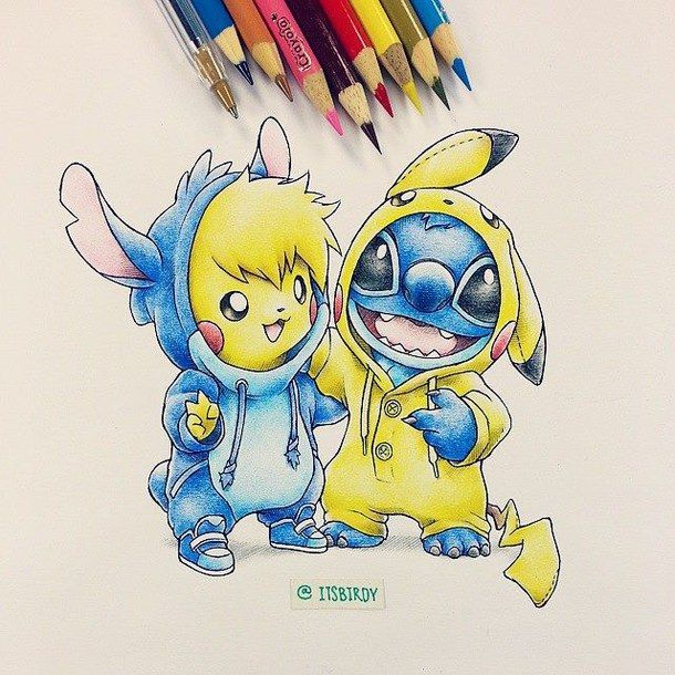 savon, dessiné, dessin, kawaii, pokémon, Stich