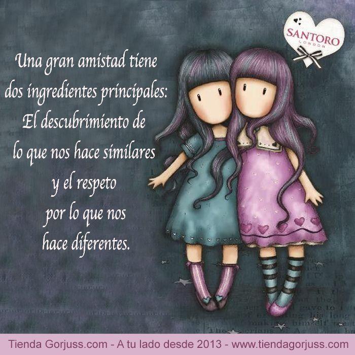Una gran amistad tiene dos ingredientes principales: el descubrimiento de lo que nos hace similares y el respeto por lo que nos hace diferentes   @tiendagorjuss #gorjuss #santorolondon #amistad #amigas #felizjueves