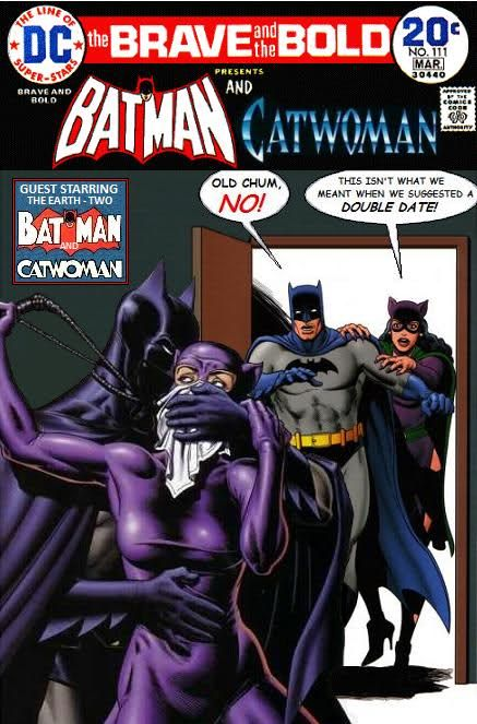 Batman and Catwoman — and Earth-Two Batman and Catwoman!  Sheesh, talk about taking out all the fun