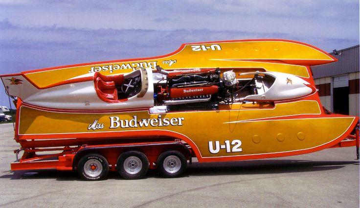 U-12 U12 Miss Budweiser Miss Bud classic unlimited class hydroplane hydroplanes hydro hydros racing boat boats tilt transport trailer