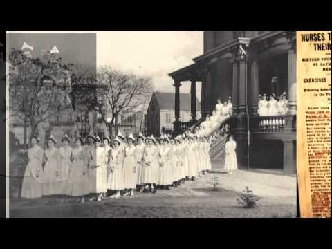 History of St. Catherine's Hospital and Nursing School in Bushwick Brooklyn, NY and the Sisters of St. Dominic.