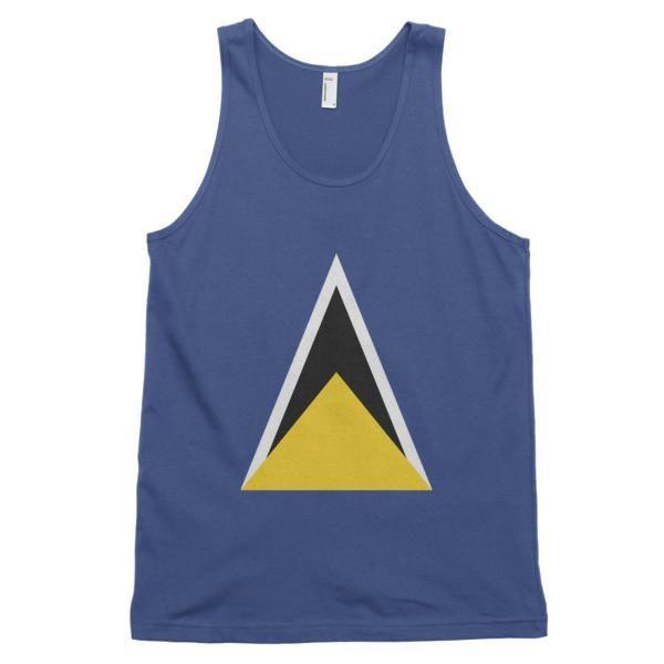 St. Lucia Flag - Classic fit men's tank top