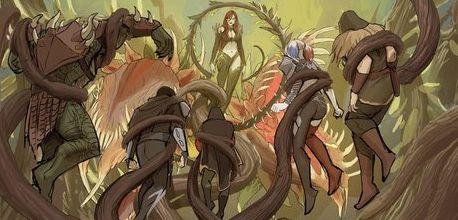 Poison Ivy. Harley Quinn. Green Arrow. Robin. Nightwing. Killer Croc.