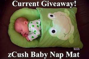 zCush Baby Nap Mat Review & giveaway! Makes it easy and safe to move babies!