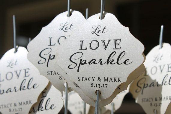 Sparkler Tags  mariage Sparkler envoyer hors  par SayAnythingDesign
