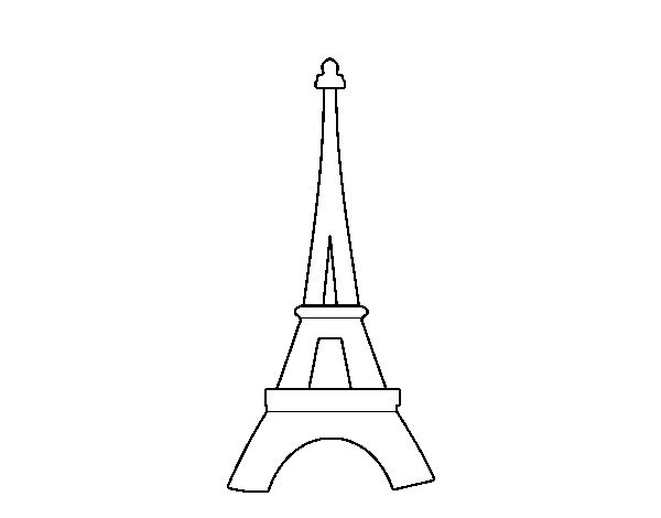 parthenon coloring page | Coloring page Eiffel Tower to color online.