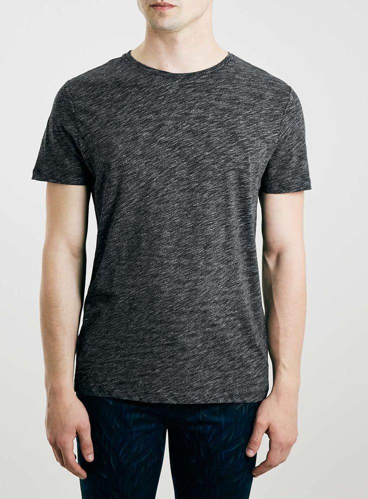 Premium Charcoal Marl Slim Fit T-Shirt
