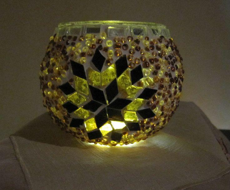 Turkish Moroccan Handmade Mosaic Candleholder Tealight 002 Medium