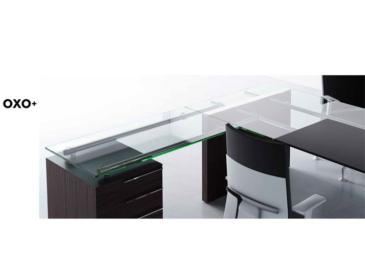 OXO+ is an executive system with several combinations; glass or veneer tops and a range of cabinets to fill all your storage needs. Let your office inspire you.