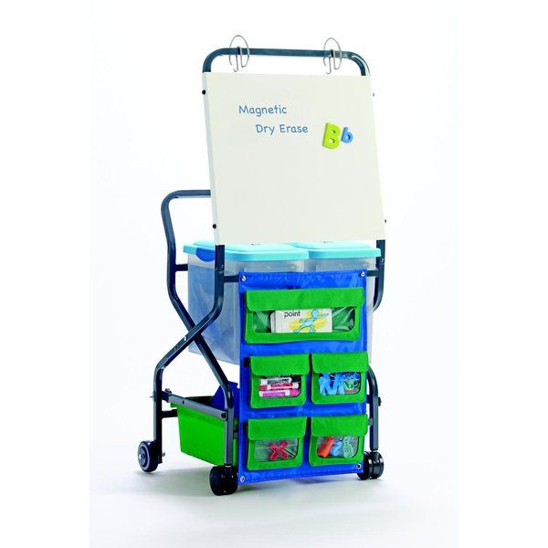 this compact, folding trolley is the perfect organizer for daily literacy intervention programs and other traveling educator's needs.