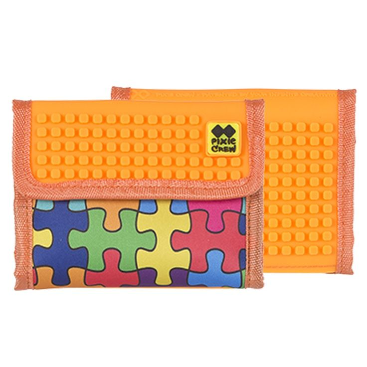 PIXIE CREW Wallet COLOURED PUZZLE/ORANGE
