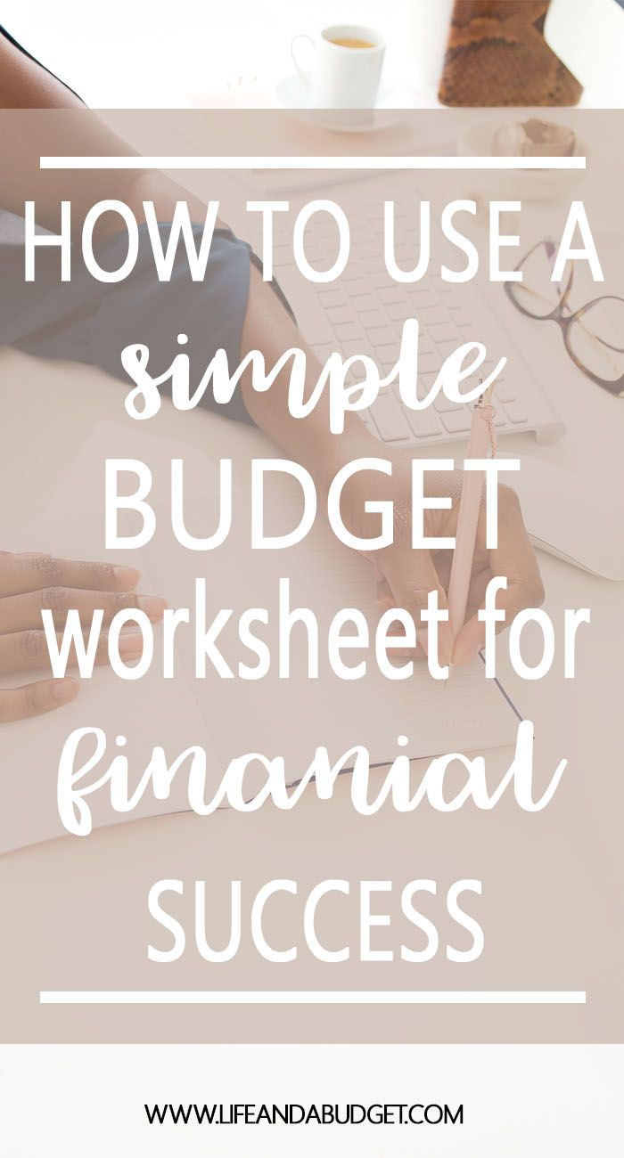 Learn how to use this free simple budget worksheet to create a budget. Part of the budgeting for beginners series. Free Budget Worksheet |  Budget Worksheet Printable |  Budget Worksheet For Beginners via @lifeandabudget