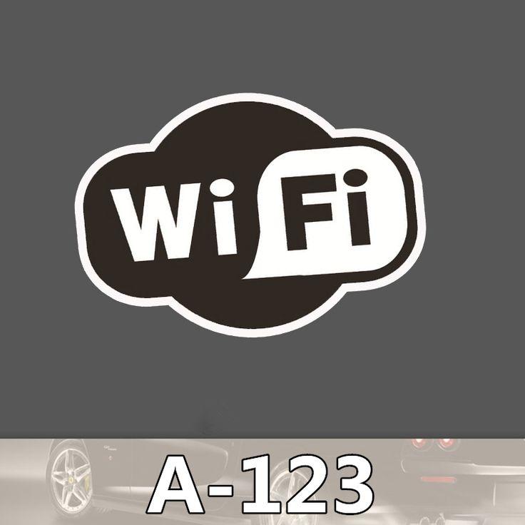 A-123 Wi-Fi Мода Прохладный DIY Наклейки Для Ноутбука Багажа Холодильник Скейтборд Автомобилей Граффити Мультфильм Наклейки #jewelry, #women, #men, #hats, #watches