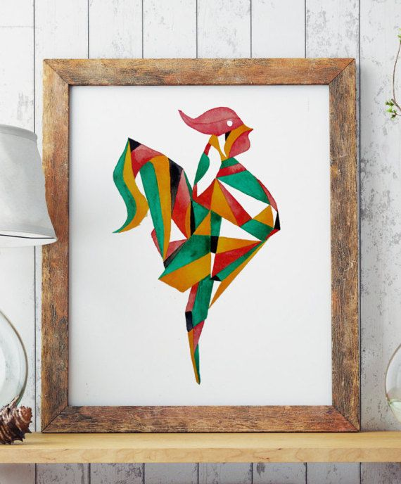 Hand drawn watercolor art. ROOSTER  Perfect for your living walls Great gift idea for your friends.  Big resolution of the picture, can be printed on larger formats. ZuskaArt : artwork | watercolor painting | art prints | canvas art | framed art | canvas painting | watercolour | art prints |