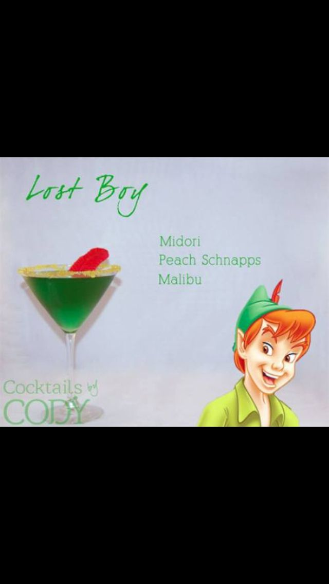 Peter Pan....ftr...if I ever have a baby boy...baby shower will have this drink.