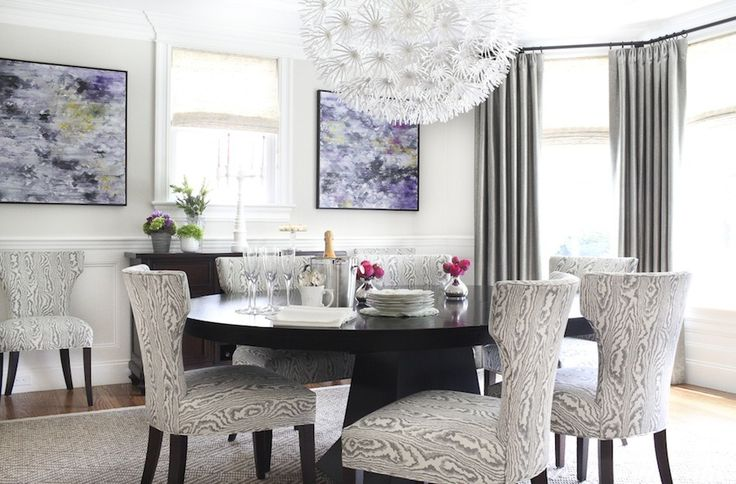 1000 images about ideas for shades of gray w pops of for Grey and yellow dining room ideas