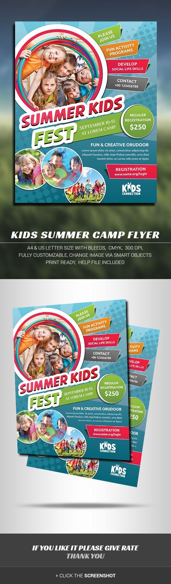 Kids Summer Camp Flyer on Behance