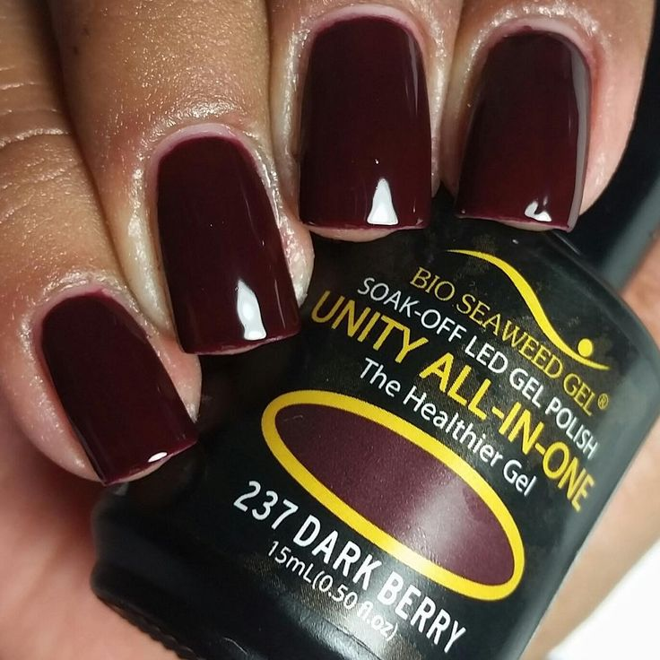 Bio Seaweed Gel - Dark Berry - All-In-One Polish does not require base or top coat (but top coat can be added for extra shine)