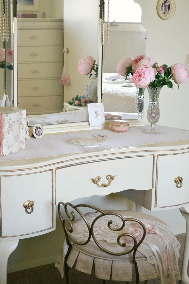 266 best dressing table images on pinterest candles bathroom jennelise a pretty chair romantic cottageromantic shabby chicvanity geotapseo Images