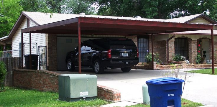 16 best carport ideas images on pinterest carport patio for Cost to build attached 2 car garage