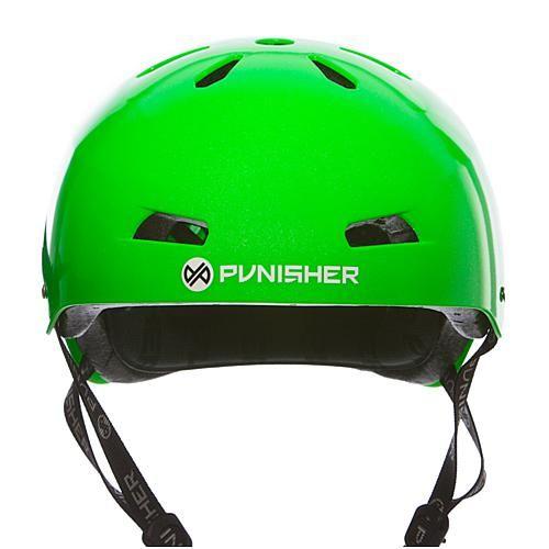 Bike USA Punisher Premium Metallic-Flaked Neon Green Youth Skateboard Helmet