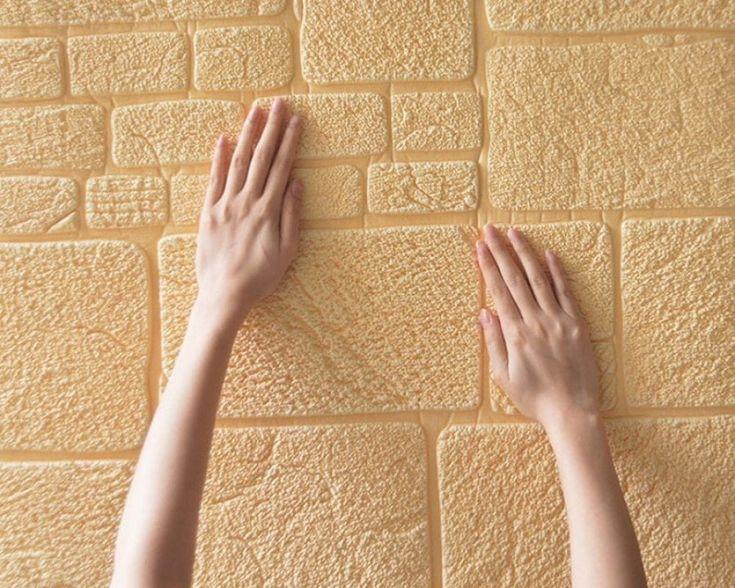 Self Adhesive 3D Wallpaper Brick Pattern Wall Sticker