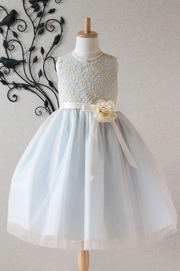 子供ドレス ピアノ発表会ドレス 2-1142(120cm)ベビーブルー