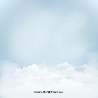 Bulutlar Mavi gökyüzü