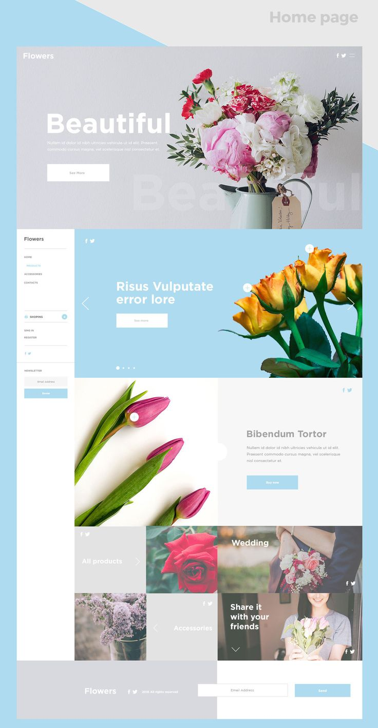 Flowers / Web design Minimalistic on Behance