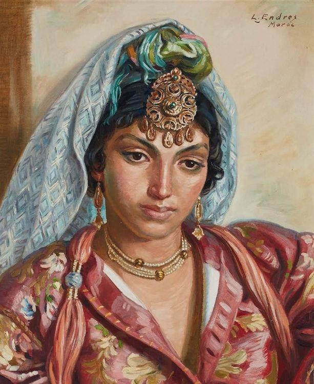 Louis John Endres (1896-1989) _Jeune Marocaine