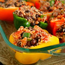 Stuffed Peppers. This recipe looks much faster than my other pepper recipe. Tasty and healthy!