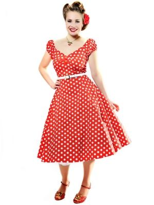 Collectif Dolores Doll Dress Polka
