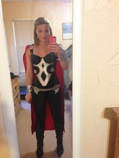 12 best marvel images on pinterest vinyl decals silhouettes and my lady thor costume sans mjolnir and helmet solutioingenieria Images