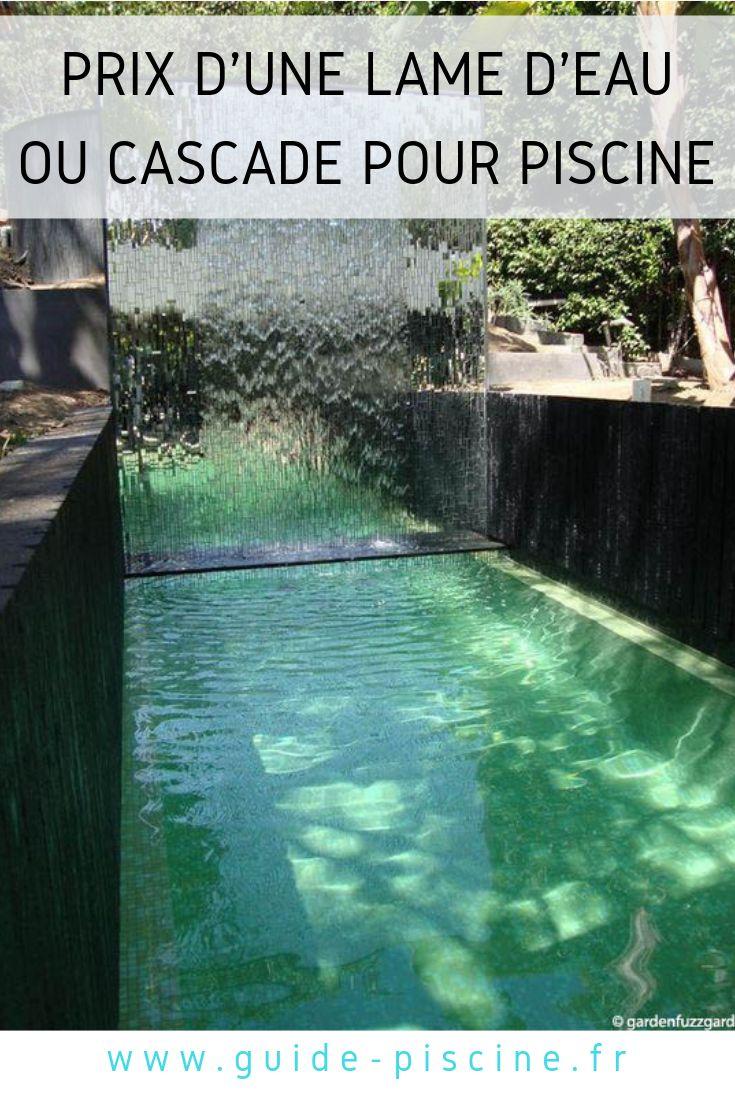 Prix d une cascade ou lame d eau pour piscine cascade - Cascade pour piscine ...