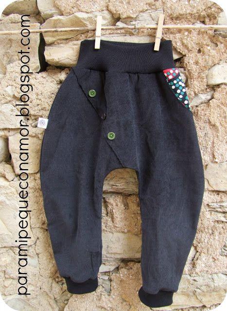 Pantalón cruzado negro de paramipequeconamor